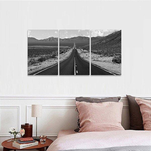 Quadro Estrada The Road Paisagem em Preto e Branco