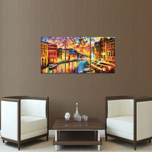 Quadro Grand Canal Veneza Abstrato Moderno  decorativo