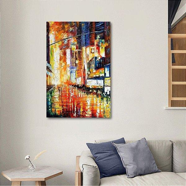 Quadro Times Square Abstrato Arte NYC