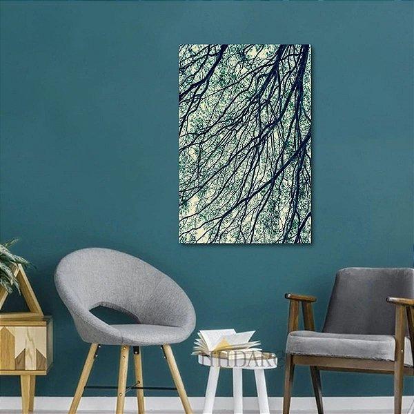 Quadro Abstrato Arte Os Galhos Secos decorativo