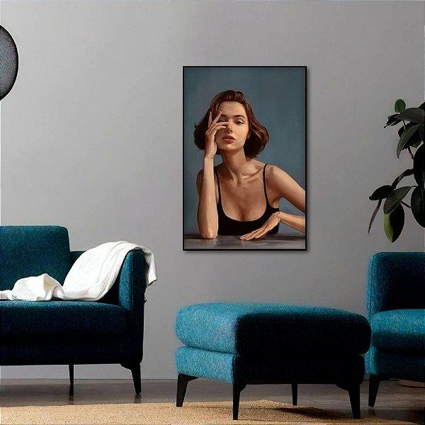 Quadro Mulher Artístico Abstrato Photo Shoot decorativo