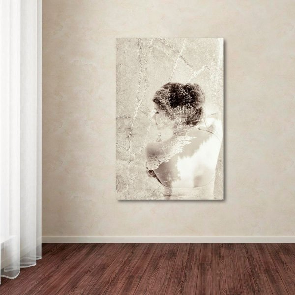 Quadro Abstrato Artístico Beautiful Woman Retrô Vertical