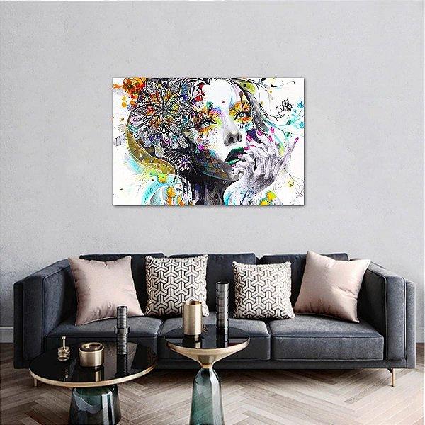 Quadro decorativo Arte Mulher Abstrata Colors