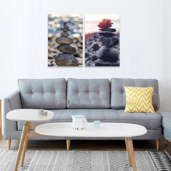 Quadros decorativos Pedras do Equilibrio Vida Zen