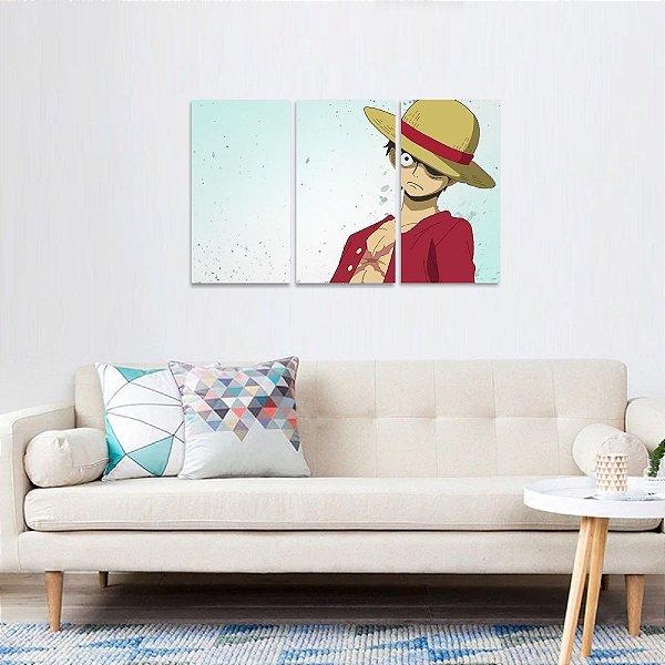 Quadro decorativo One Piece Conjunto 3 Peças