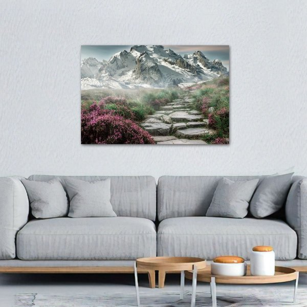 Quadro Montanhas Estrada Landscape decorativo