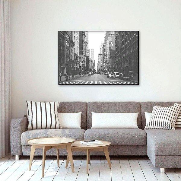 Quadro Nova York Centro da Cidade em Preto e Branco