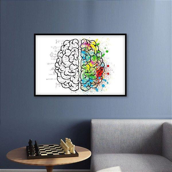 Quadro Os Lados do Cérebro Humano decorativo 1 Peça