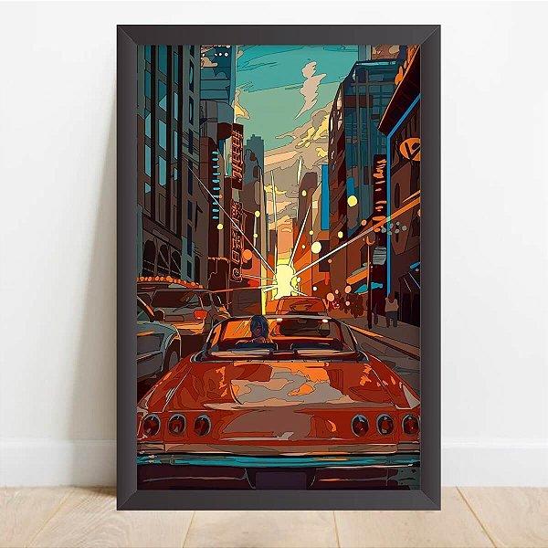 Quadro Arte Carros Jogos Vídeo Game  Retrô Decorativo