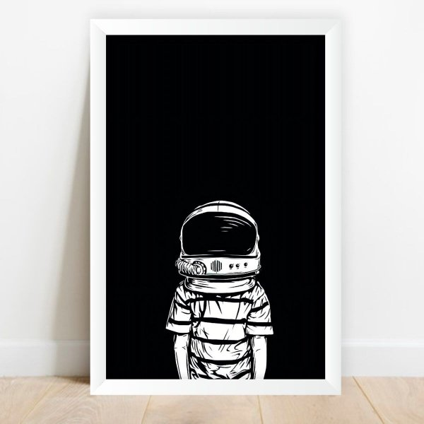 Quadro Astronauta Desenho Coleção Universo