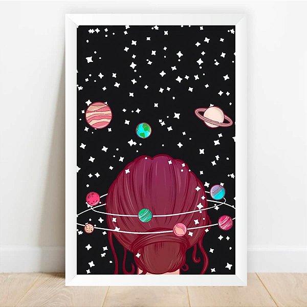 Quadro Decorativo Arte Viajante Espacial