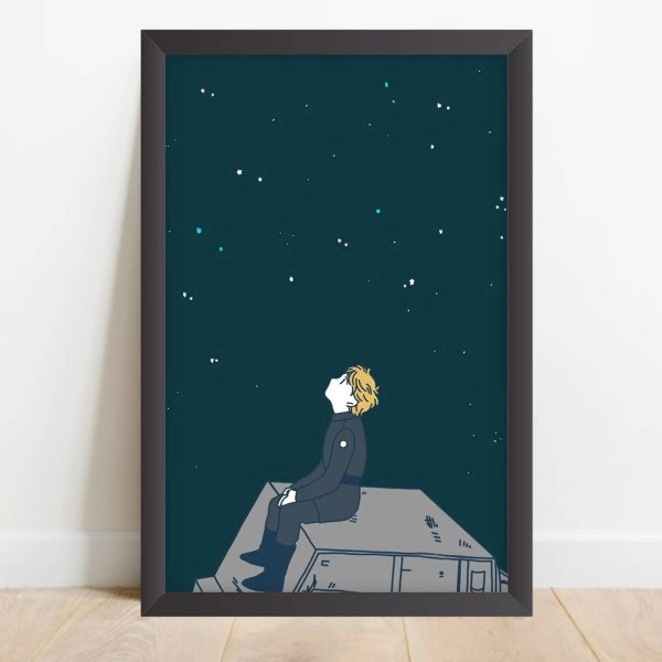 Quadro Decorativo Coleção Universo O Menino e as Estrelas