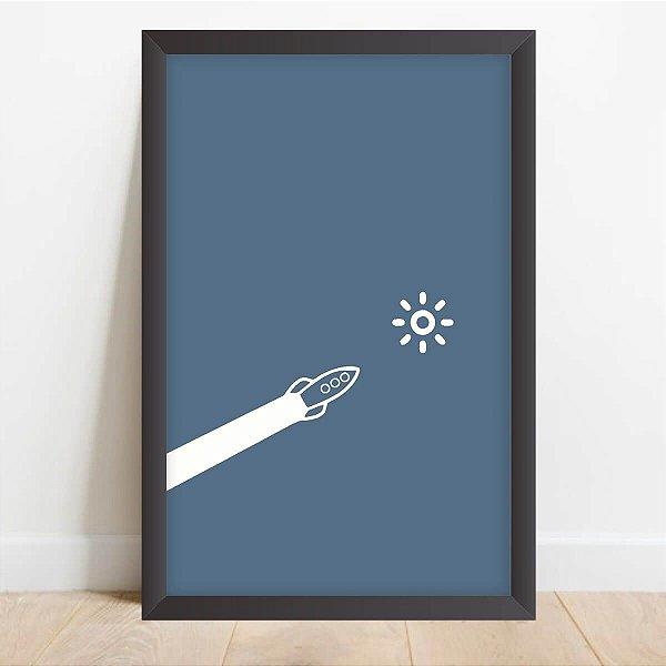 Quadro decorativo Um Foguete para o Espaço Desenho