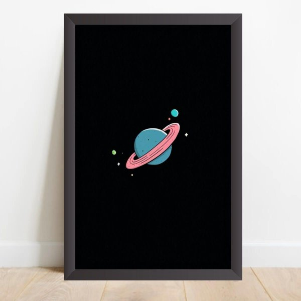 Quadro Desenho Coleção Universo Planeta e Satélites Naturais