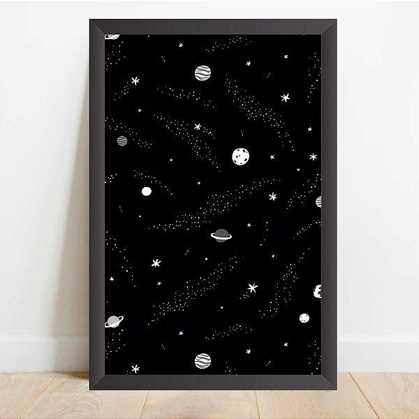 Quadro Drawing Universo Estrelas e Planetas