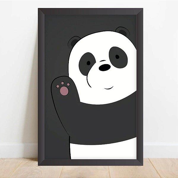 Quadro Infantil Coleção Animais da Floresta Decorativo Panda Hello