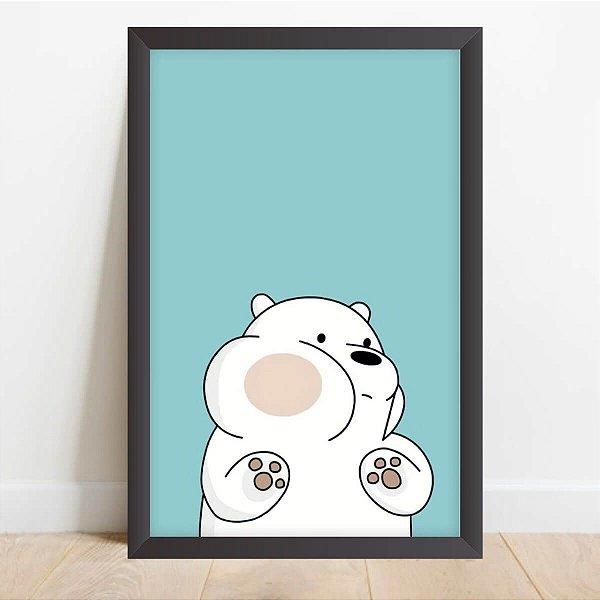 Quadro Infantil Coleção Animais da Floresta Urso Cute Decorativo