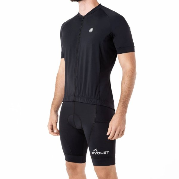 Camisa CYCLE Masculina ColorBlock Preto Tam. M