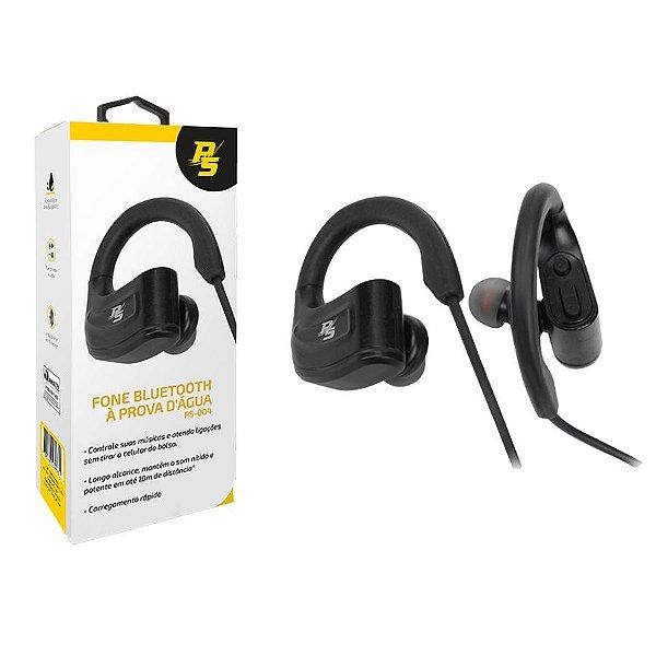 Fone de Ouvido Bluetooth PERFORMANCE SOUND - À Prova D Água - Preto