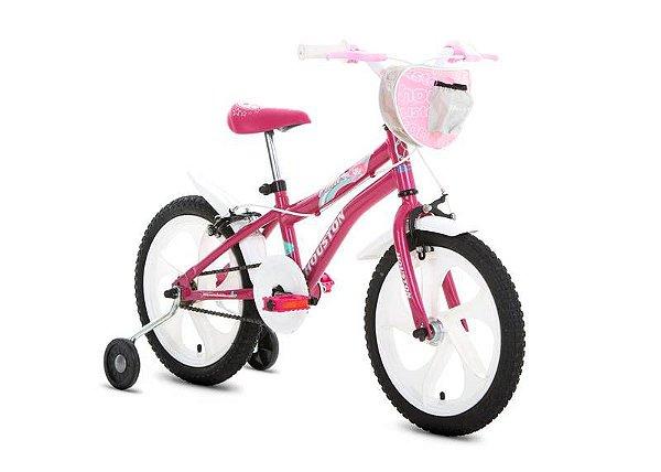 Bicicleta HOUSTON Tina Aro 16 Rosa Pink c/ Cesta Rosa