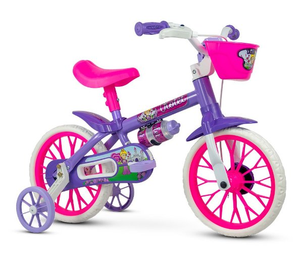 Bicicleta NATHOR Violet Aro 12 Feminina Lílas/Rosa
