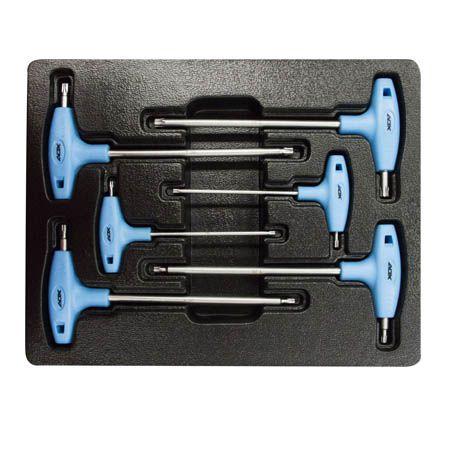 "Kit de 6 Chaves DAX ""T"" TORX Azul"