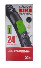 Câmara Vacinada Chaoyang 24X1.95/ 2.125 Válvula Presta