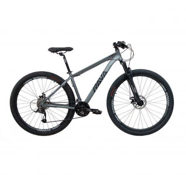Bicicleta RAVA PRESSURE Aro 29 24V Cinza/Preto - Tam. 17