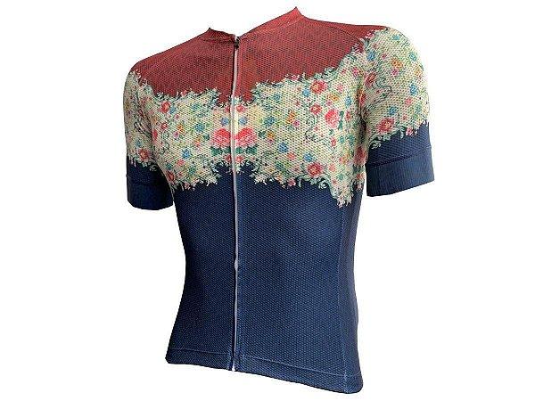 Camisa MARELLI Feminina Laser Floral Blue Azul Tam - M
