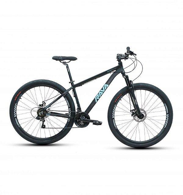 Bicicleta RAVA PRESSURE Aro 29 21V Preto/Azul - Tam. 17