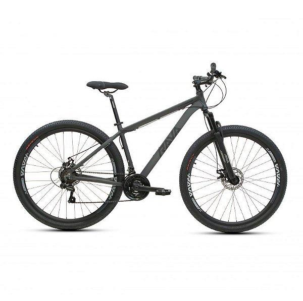 Bicicleta RAVA PRESSURE Aro 29 21V Preto/Cinza - Tam. 19