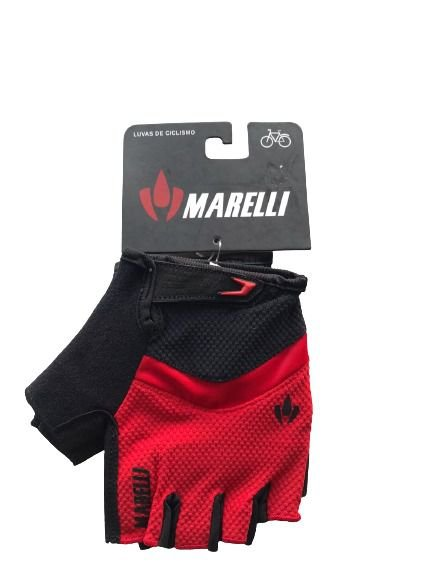 Luva MARELLI Recorte c/ Velcro Vermelho - Tam. GG