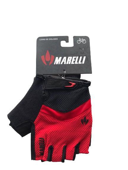 Luva MARELLI Recorte c/ Velcro Vermelho - Tam. G