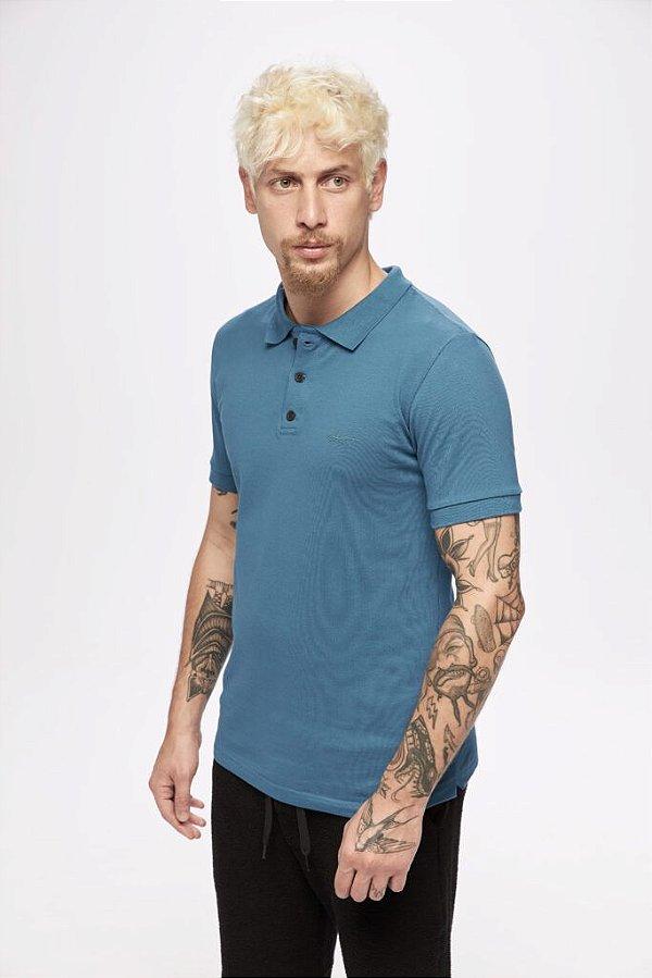 Camisa SENSE Polo Masculino Carbon Azul - Tam. GG