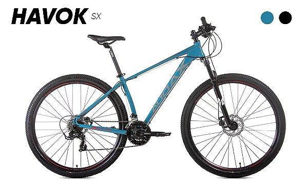Bicicleta AUDAX Havok SX 2021 Aro-29 Verde Azulado - Tam. 19