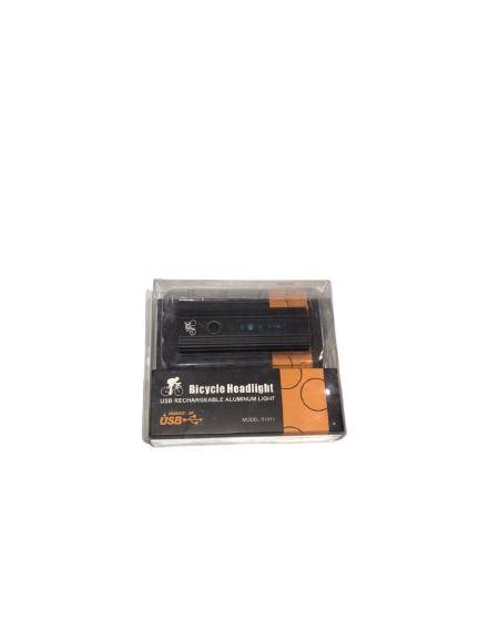 Farol Led Recarregável USB 200 Lumens Prova d´água Preto - H1911
