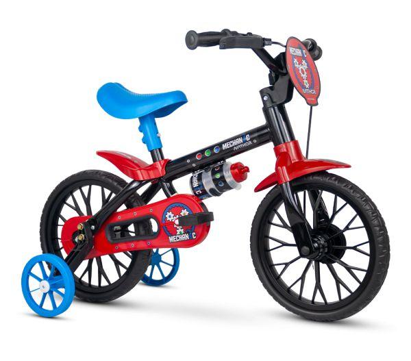 Bicicleta NATHOR Mechanic Aro 12 Preto/Vermelho