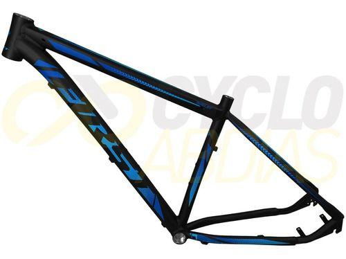 Quadro MTB First Shelby Alumínio Preto/Azul Fosco Tam. 19