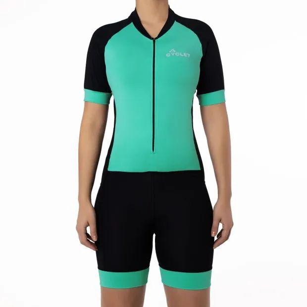 Macaquinho CYCLE Feminino Preto/Verde Tam. M