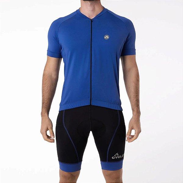 Camisa CYCLE Masculina ColorBlock Azul Royal Tam. GG