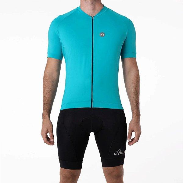 Camisa CYCLE Masculina ColorBlock Azul Claro Tam. GG