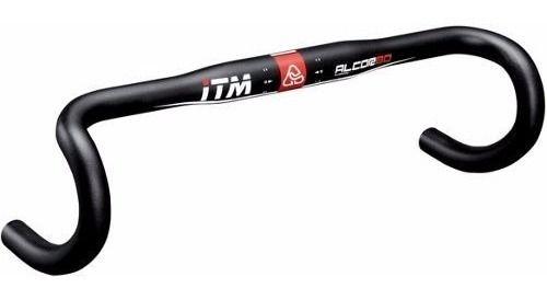 Guidão ITM Speed Alumínio 440mmX31.8 Preto