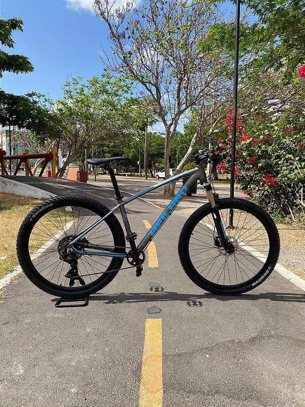 Bicicleta HEILAND Aro 29 9v Cinza/Azul - Tam. 17,5