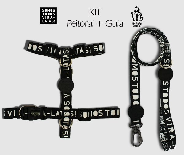 KIT Peitoral e Guia - VIRA-LATAS - CoolDog