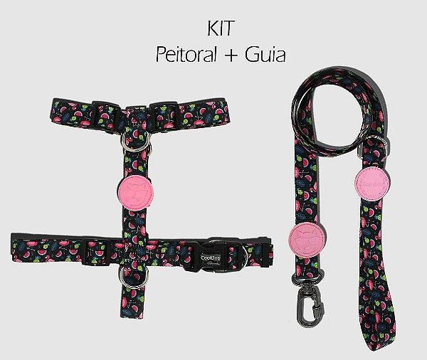 KIT Peitoral e Guia - Flamingo - CoolDog