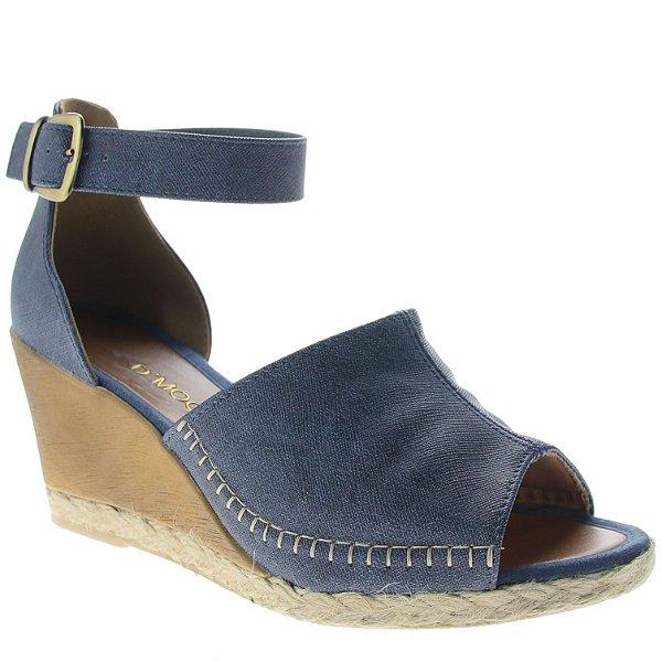 Sandália Anabela D'Moon 83855 Jeans