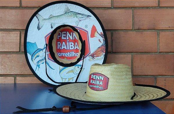 Chapéu de Palha Penn Raíba - Logo Vermelho
