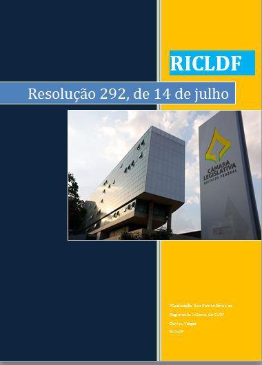 Atualização do Regimento Interno da CLDF - Resolução 292