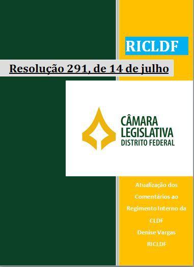 Atualização do Regimento Interno da CLDF - Resolução 291