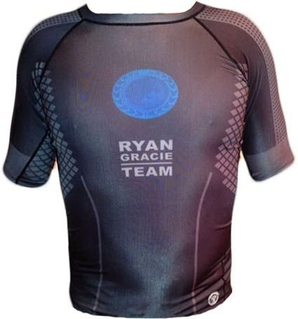 Rash Guard Manga Curta-Ryan Gracie Team - Oficial